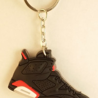 AJ VI Retro Black Infrared 23 Key Chain
