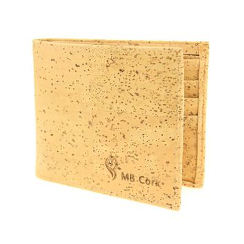 Natural cork men cork wallet vegan bag handmade casual wooden wallet from Portugal Bag-70