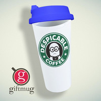 Minion Starbuck Coffee Logo Double Wall Plastic Mug