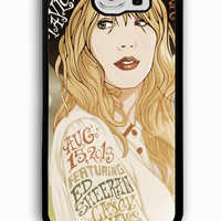 Samsung Galaxy S6 Case - Rubber (TPU) Cover with Taylor Swift 2 Rubber case Design