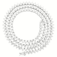 """3 Prong Sterling Silver 3mm 18"""" Tennis Chain"""