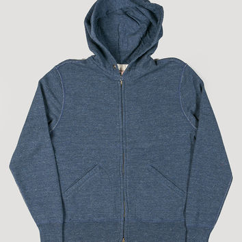 Todd Snyder + Champion Fullzip Hoodie Indigo Heather