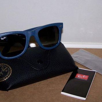 Gotopfashion NEW RAY BAN WAYFARER LEATHER SUNGLASSES GRADIENT LENS RB2140-QM 1168/71 W/CASE!!