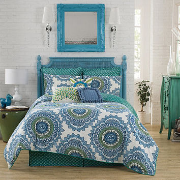Anthology™ Bungalow Comforter Set in Teal