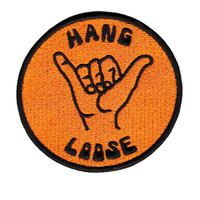 "Cool Vintage 70's 80's Style ""Hang Loose"" Morale Surfing Surfer Surf Patch Badge for Cap Hat Shirt 8cm"