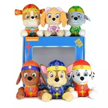 Genuine Paw Patrol 18cm Party Favors Tang style Stuffed Plush Toy Gift Doll For Boys and girls Birthday Party supplies promotion