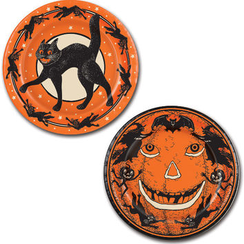 "halloween vintage plates - 9"" Case of 12"