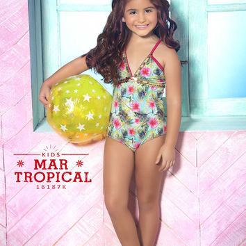 Mar de Rosas - Mar Tropical | High End Childrens Swimwear