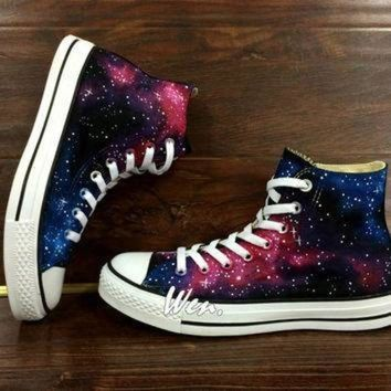 DCCK8NT wen original design galaxy shoes galaxy converse customize hand painted shoes painted