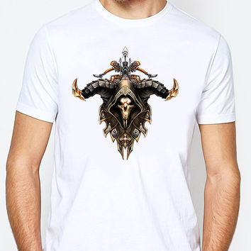 Starcraft Blizzard Diablo 3 Demon Hunter Mens T-shirt Black and White