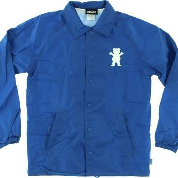 Grizzly 01 G Logo Coaches Jacket XLarge Royal
