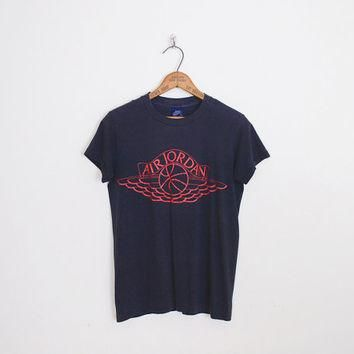 Nike T-Shirt Nike Blue Label Nike Air Jordan T-Shirt Basketball T-Shirt 80s T-Shirt Re