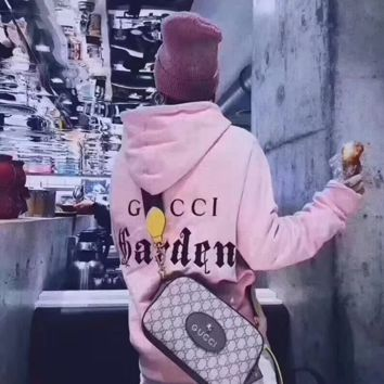 Gucci Print Hooded Pullover Tops Sweater Sweatshirts