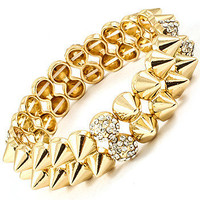 Double-Layered Spike Stretch Bracelet | Avant-Garde Boutique