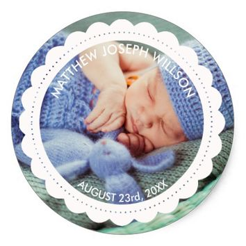Birth Announcement Sticker