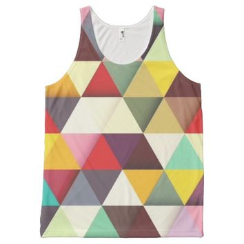 Colorful Modern Triangle Pattern All Over Print Tank Top