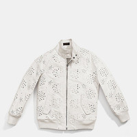 LACE HARRINGTON RAGLAN JACKET