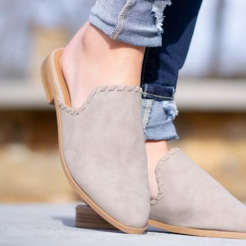 Tuxedo Taupe Distressed Slip Ons
