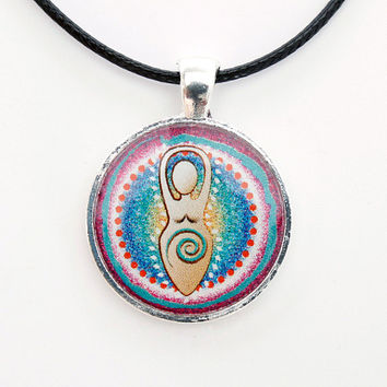 Goddess necklace. Gaia, Mother Earth. Spiritual Jewelry with Original Design. Handmade Pendant