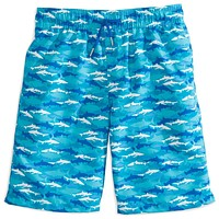 Boy's Shark Frenzy Swim Trunk in Scuba Blue by Southern Tide - FINAL SALE