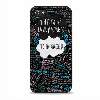 The Fault in Our Stars quotes movies Iphone 5S Cases
