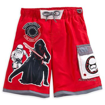 Licensed cool Star Wars The Force Awakens BOYS Swim Trunks Kylo Ren Stormtrooper Disney Store