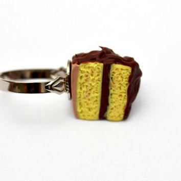 Classic Yellow Cake with Chocolate Frosting Ring