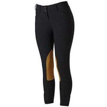 TS 1963 Black w/Tan Knee Patch Mid-Rise Front Zip Breech