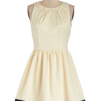 ModCloth Short Length Sleeveless A-line Jacquard to Get Dress