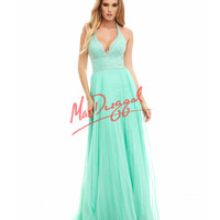 Mint Green Halter Grecian Gown