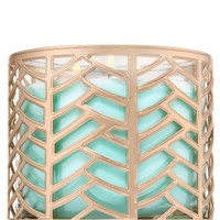 3-Wick Candle Sleeve Champagne Chevron