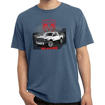 Buy Cool Shirts Dodge T-shirt White Ram Pigment Dyed Tee