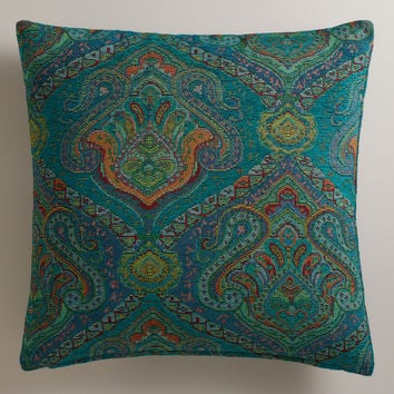 Peacock Jacquard Glasgow Throw Pillow - World Market