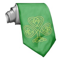 Celtic Shamrock Green Tie