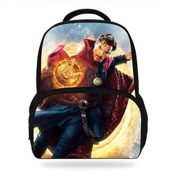 Boys bookbag trendy 14inch Child Cool Doctor Strange Bag Teenagers s Boys School Backpack Gift student Daypack Mochilas Escolares AT_51_3