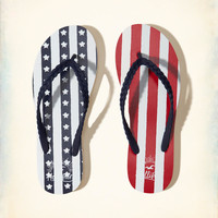 Girls Flag Rubber Flip Flops | Girls Shoes & Accessories | HollisterCo.com