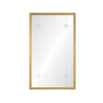 Alexandra Aged Gold Leaf Mirror by Celerie Kemble