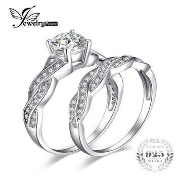 JewelryPalace Infinity 1.5ct Simulated Diamond Anniversary Promise Wedding  Band Engagement Ring Bridal Sets 925 Sterling e5c58d03b8