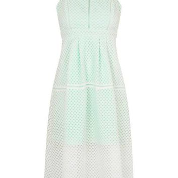 PETITE Airtex Midi Dress - Dresses - Clothing