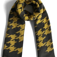 Houndstooth My Love Scarf in Mustard