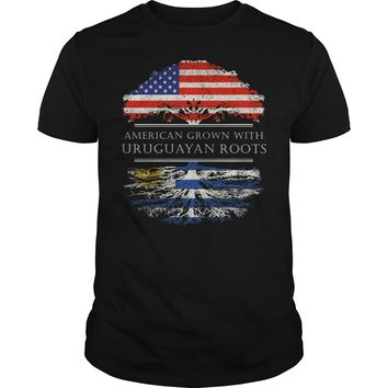 American Grown With Uruguayan Roots T-Shirt Guys Tee