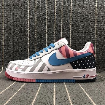 Nike Custom Air Force 1 Low AF1 White Multi Color Parra Sport Shoes - Best Online Sale