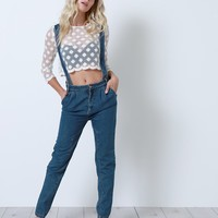 Uptown Girl Denim Overalls - Blue