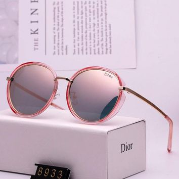 DIOR 2019 new tide brand female anti-UV round frame color film polarized sunglasses #4