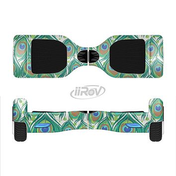 The Peacock Green Feather Bundle Full-Body Skin Set for the Smart Drifting SuperCharged iiRov HoverBoard
