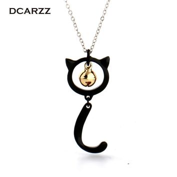 Miraculous Ladybug Cat Noir Pendant with Bell Charm Necklace