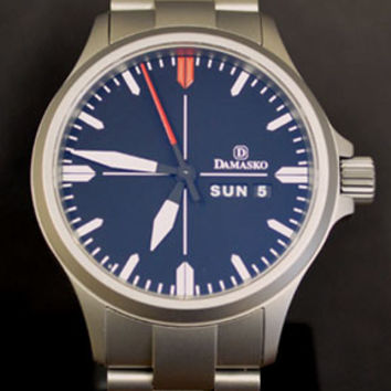 WatchMann.com Military Watches and Pilot Watches: Damasko DA34 Automatic Watch with Bracelet