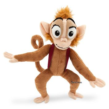 "Licensed cool Aladdin Sidekick Pet 12"" ABU MONKEY Plush Animal Toy Doll Disney Store 2015 NEW"