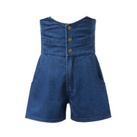 Summer Women's Fashion High Rise Slim Denim Pants Shorts [6034325697]
