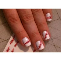 Baseball Threads Nail Decals